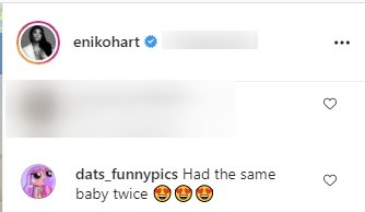 A fan's comment on Kevin Hart's kids, Kenzo and Kaori's picture. | Photo: Instagram/Enikohart