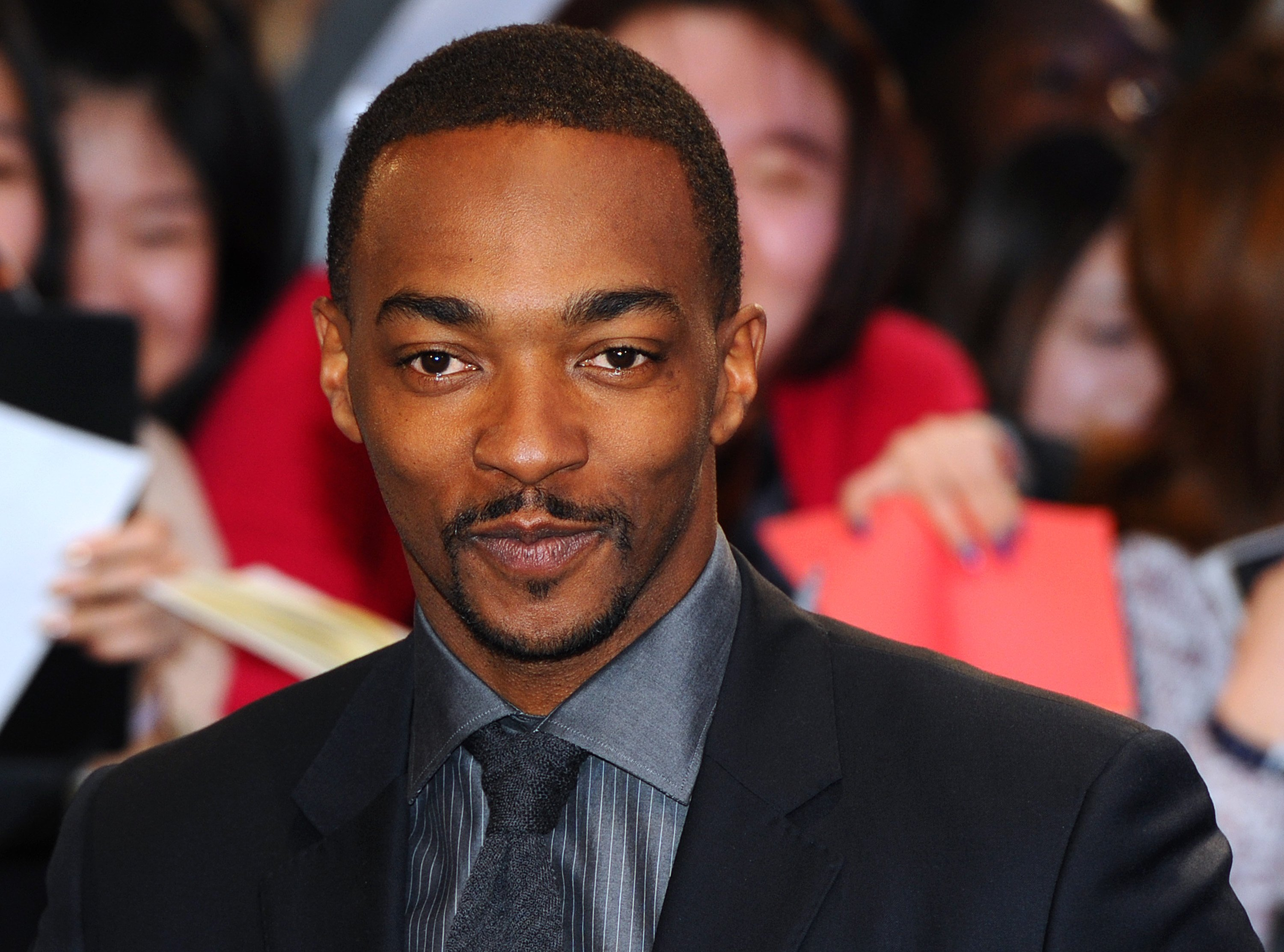 """Anthony Mackie at the """"Captain America: The Winter Soldier"""" premiere at Westfield London on March 20, 2014 in London, England.   Source: Getty Images"""