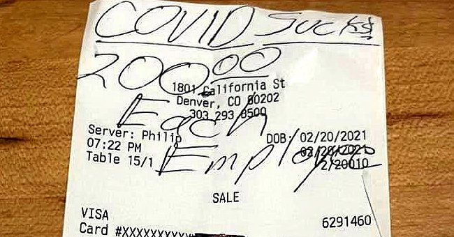 Anonymous Customer Known as 'COVID Bandit' Leaves $6,800 Tip for Restaurant Employees in Denver