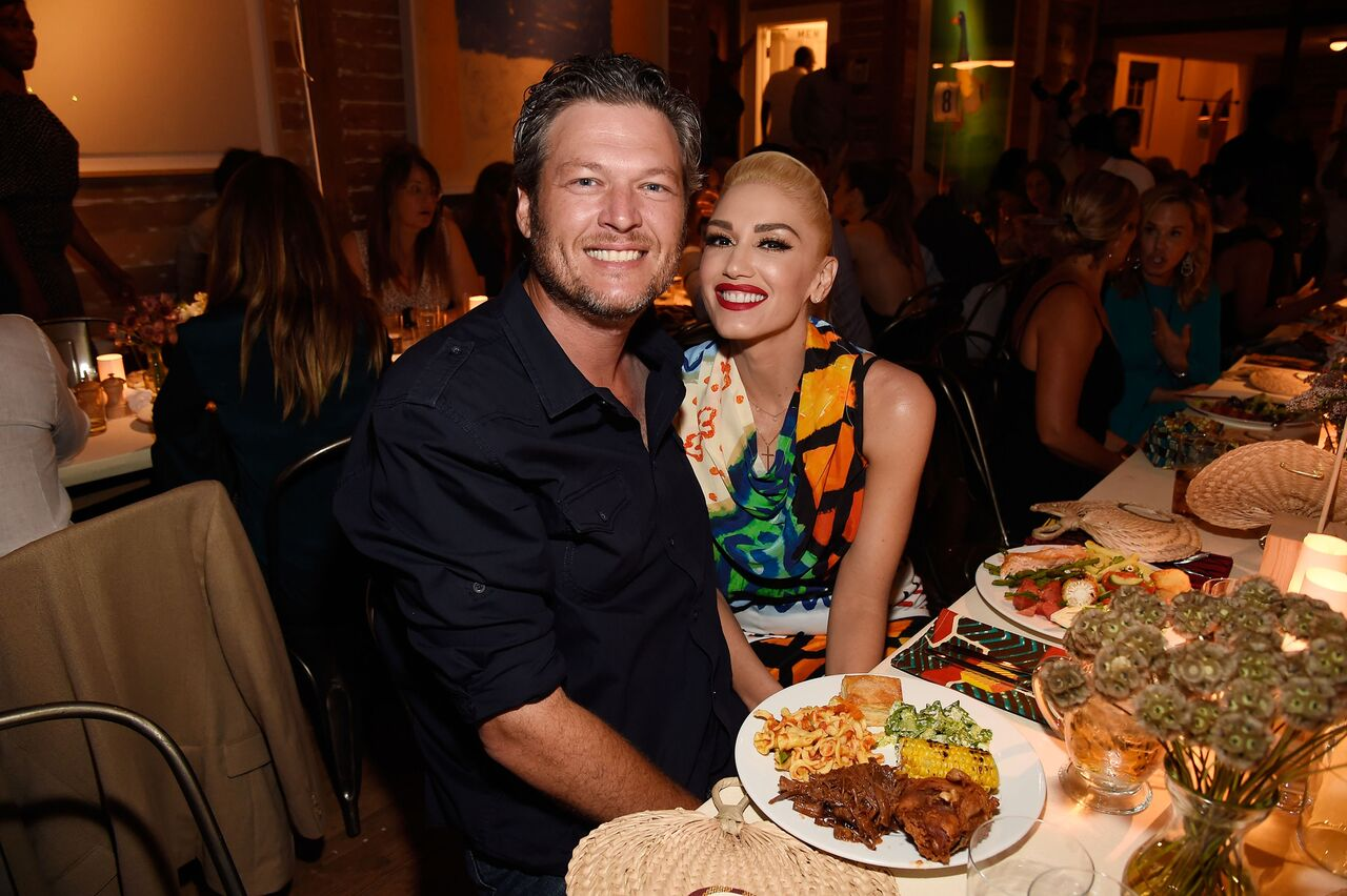 Blake Shelton and Gwen Stefani attend Apollo in the Hamptons. | Source: Getty Images