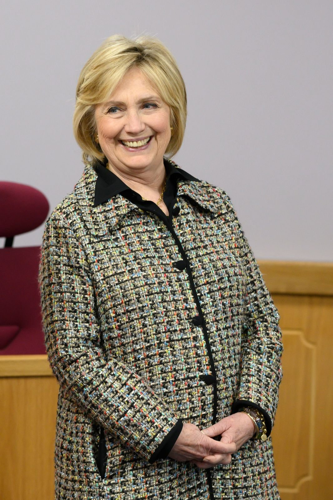Hillary Clinton visits Swansea University on November 14, 2019, in Swansea, Wales | Photo: Matthew Horwood/Getty Images