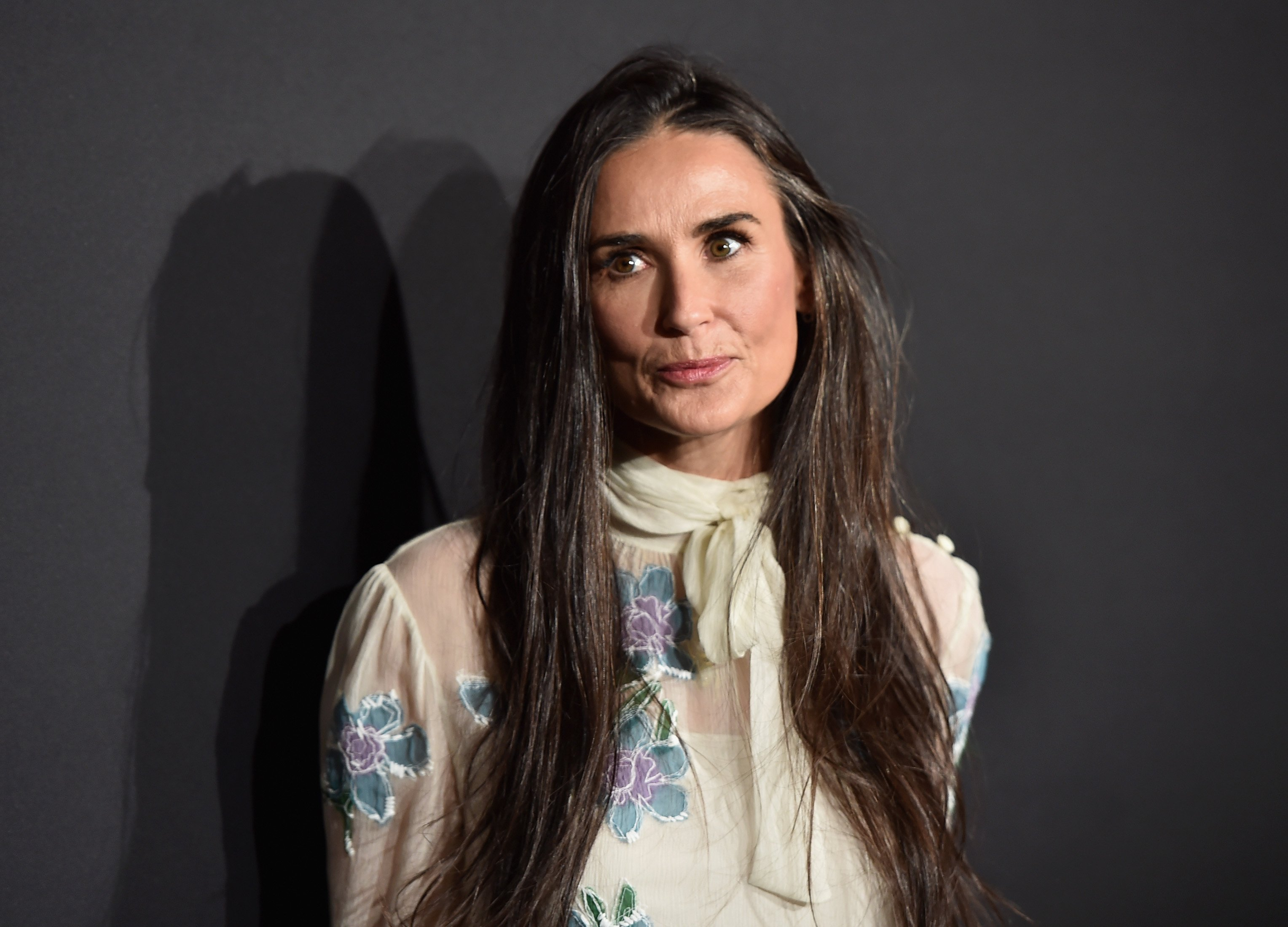 """""""Striptease"""" star Demi Moore attends the 2016 Prada's """"Past Forward"""" event at the Hauser Wirth & Schimmel in Los Angeles, California. 