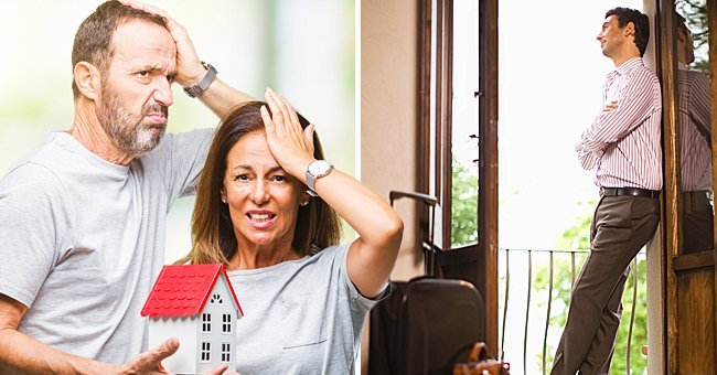 Middle age hispanic casual couple buying new house over isolated background stressed with hand on head, shocked with shame and surprise face, angry and frustrated. Fear and upset for mistake. | Source: Shutterstock