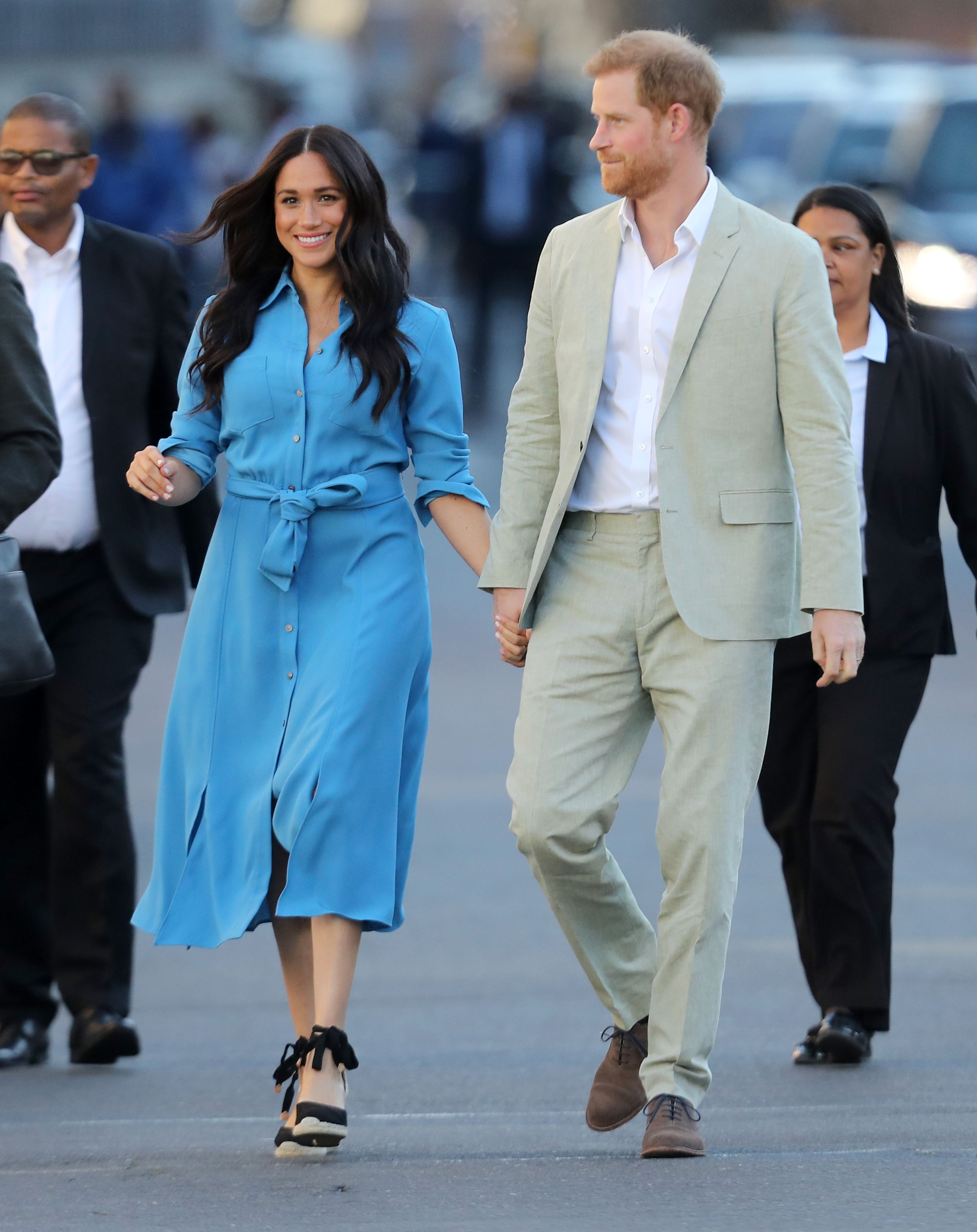 Meghan Markle and Prince Harry during their South Africa tour. | Source: Getty Images