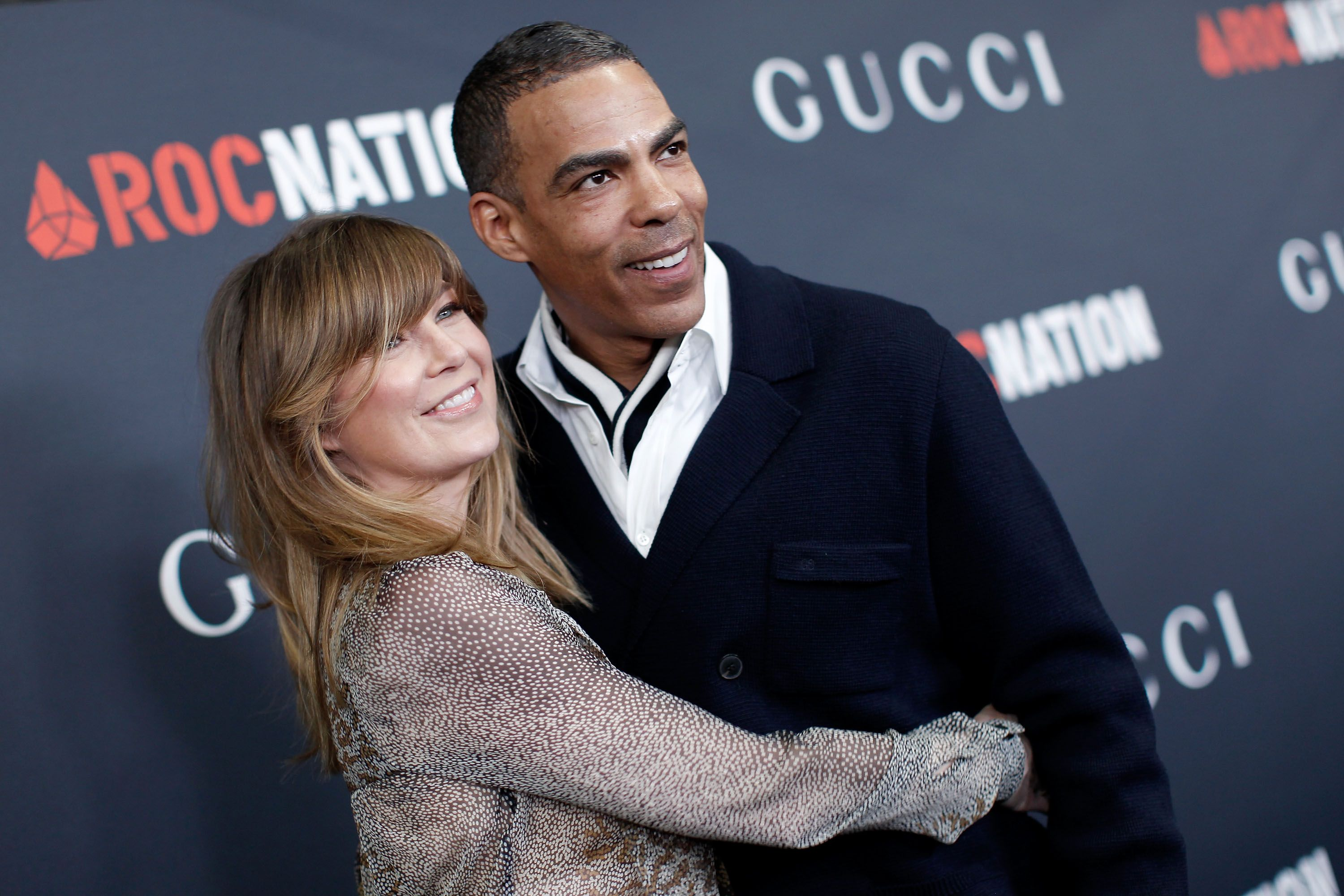 Ellen Pompeo andChris Ivery at the Gucci and RocNation Pre-Grammybrunchon February 12, 2011, in West Hollywood, California   Photo:Christopher Polk/Getty Images