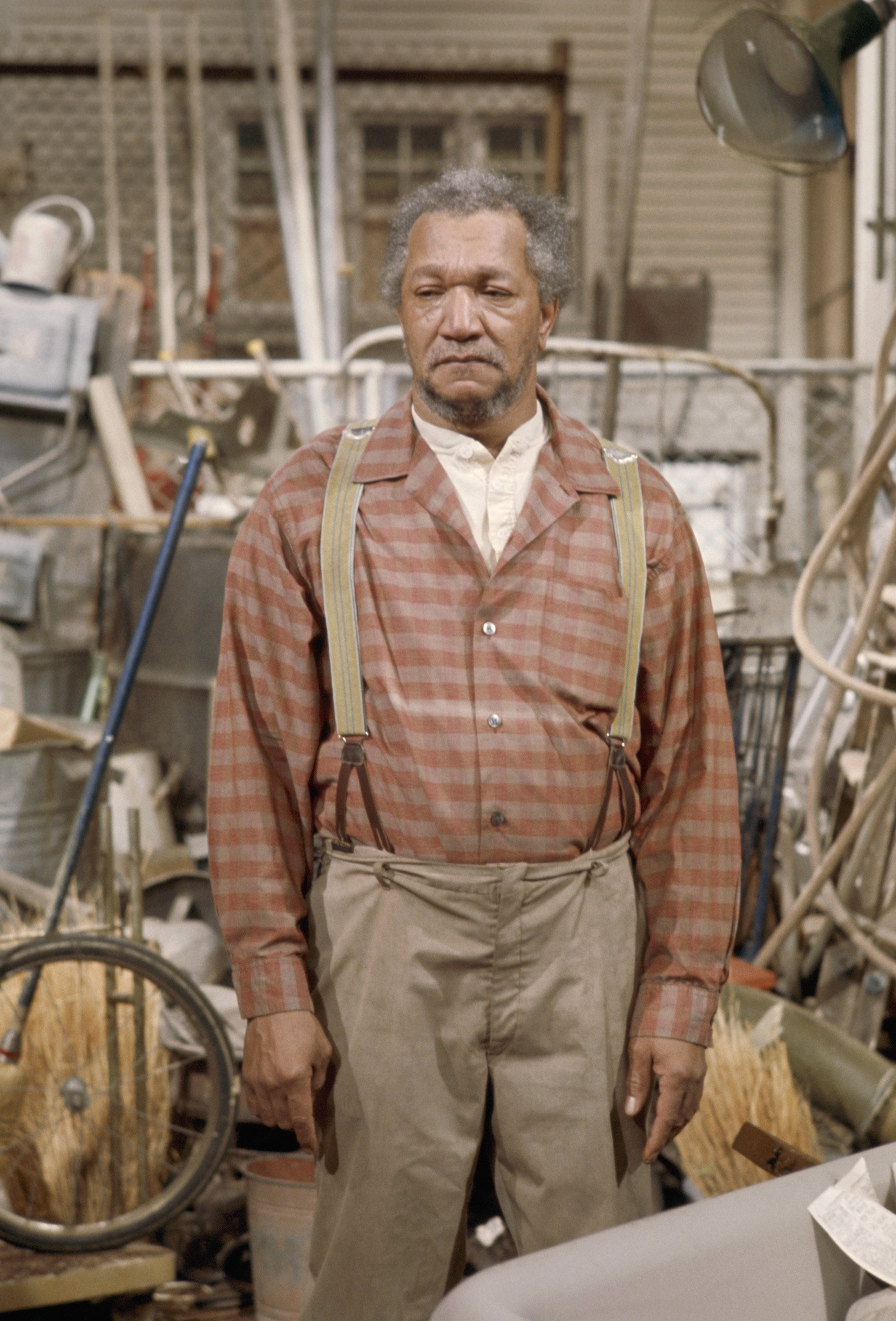"""Redd Foxx as Fred G. Sanford in an episode of """"Sanford and Son"""" aired on August 12, 1972 