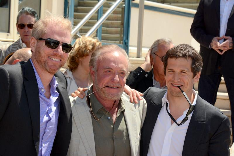 "Noah Emerich, James Caan and Guillaume Canet at the Cannes Film Festival, promoting the film ""Blood Ties,"" 2013. 