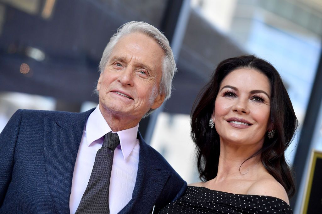 Michael Douglas and Catherine Zeta-Jones attend the ceremony honoring Michael Douglas with star on the Hollywood Walk of Fame on November 06, 2018 in Hollywood, California. | Source: Getty Images