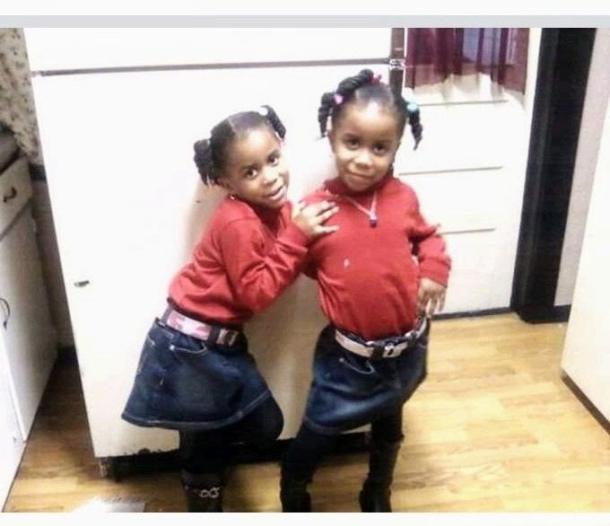 Twin sisters when they were younger | Images: GoFundMe