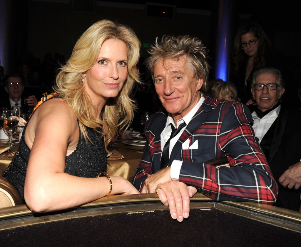 Penny Lancaster and Rod Stewart during the 56th annual GRAMMY Awards Pre-GRAMMY Gala on January 25, 2014, in Los Angeles, California. | Source: Getty Images.