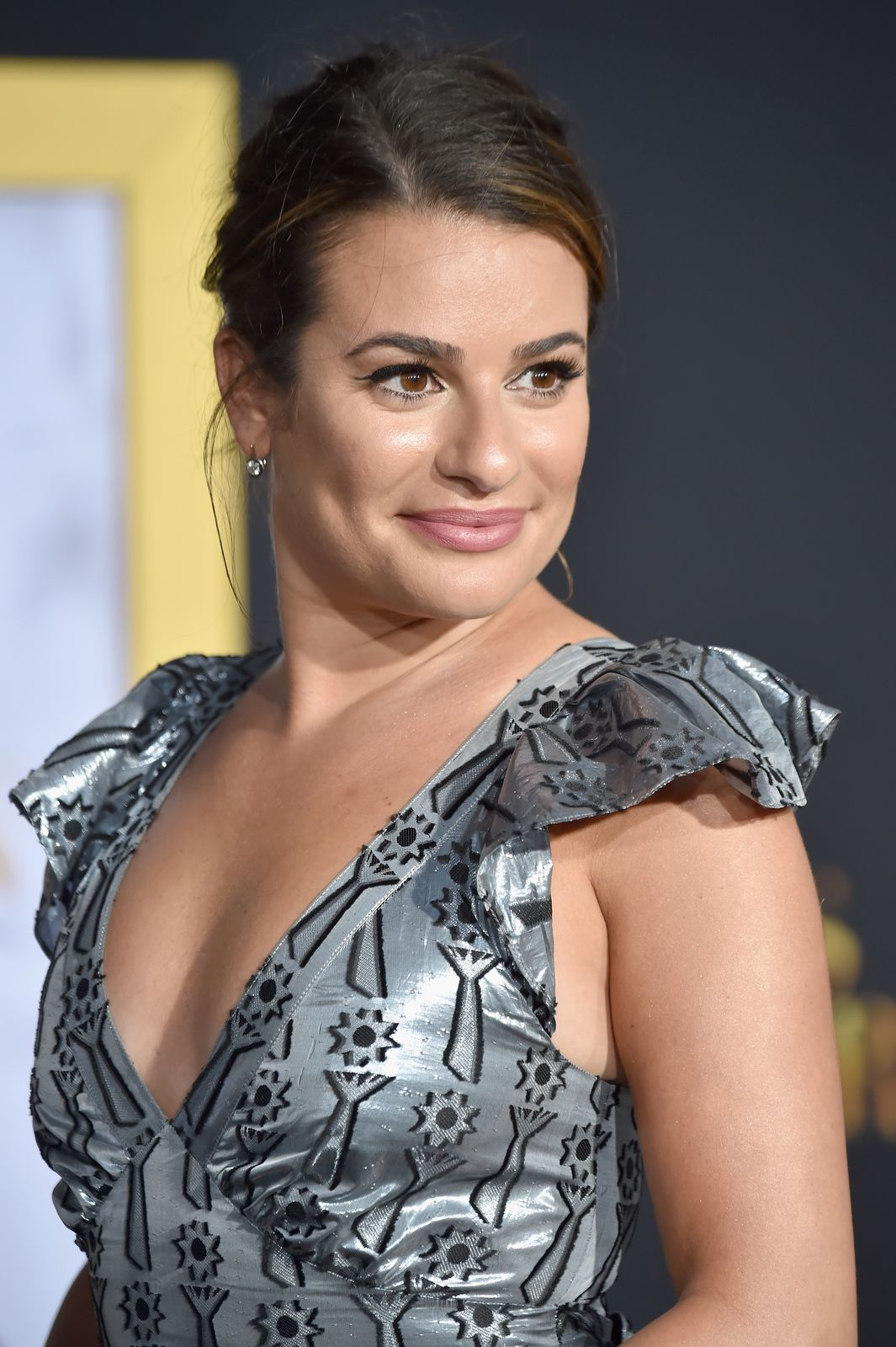 """Lea Michele atthe premiere of""""A Star Is Born"""" at The Shrine Auditorium on September 24, 2018, in Los Angeles, California 