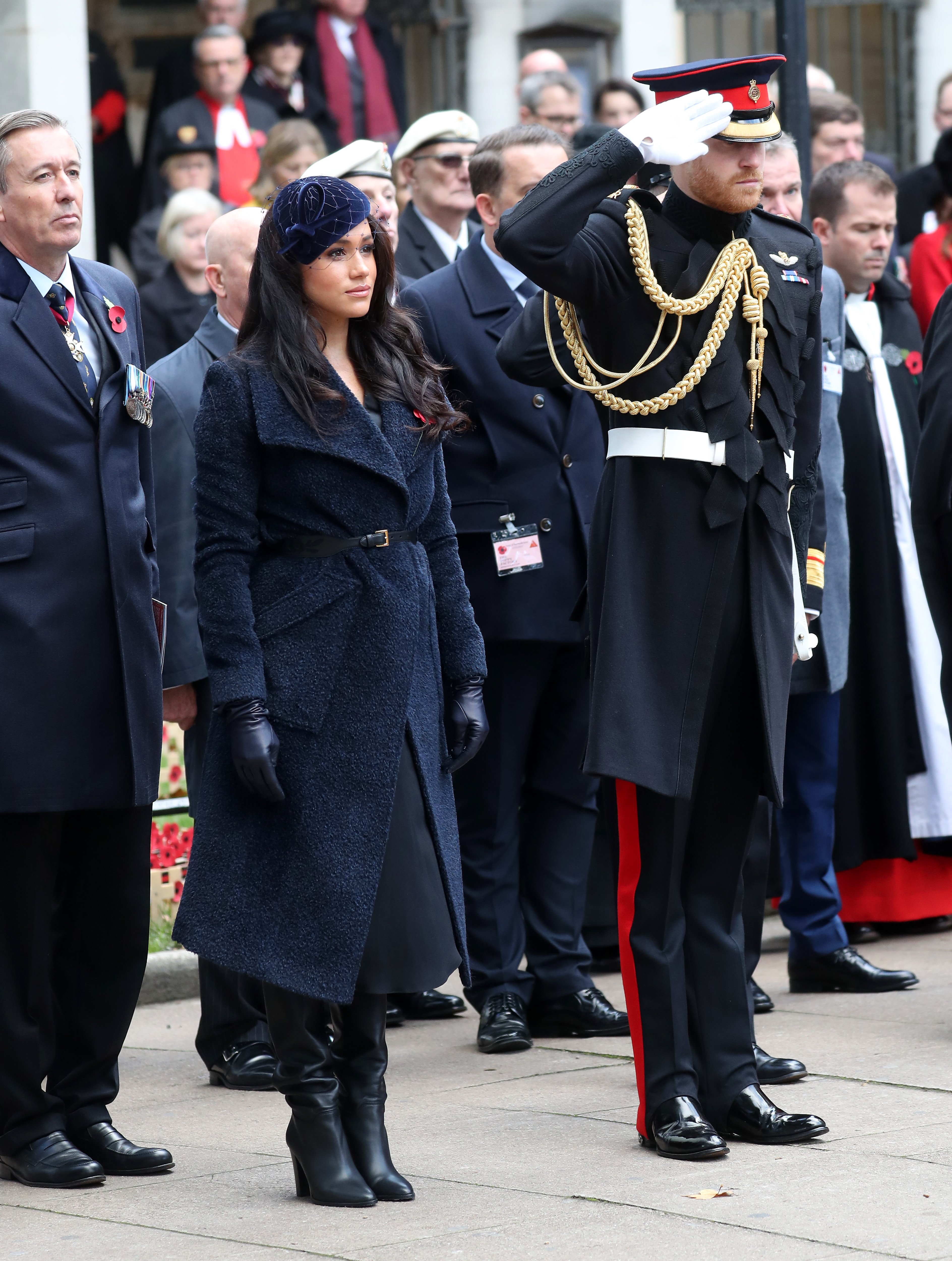 Meghan Markle and Prince Harry attend the 91st Field of Remembrance at Westminster Abbey on November 07, 2019, in London, England. | Source: Getty Images.