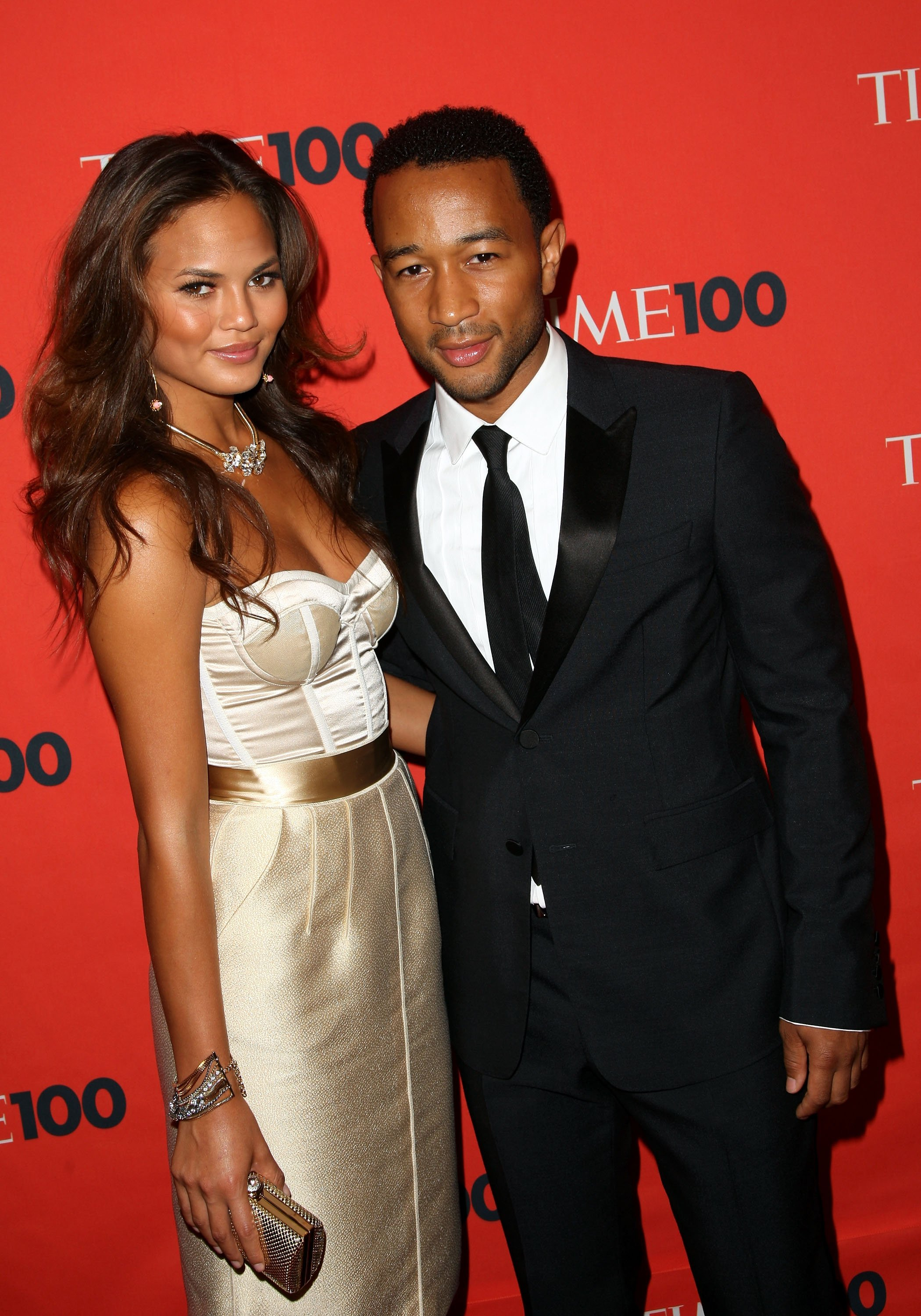 Chrissy Teigen and John Legend at Time's 100 Most Influential People in the World Gala in New York, on May 5, 2009. | Photo: Getty Images.
