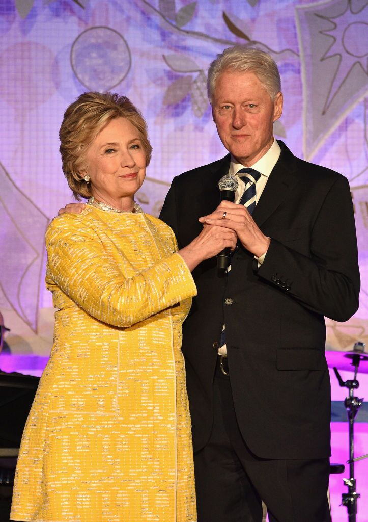 Hillary Clinton and President Bill Clinton onstage at the SeriousFun Children's Network Gala in 2017 | Source: Getty Images