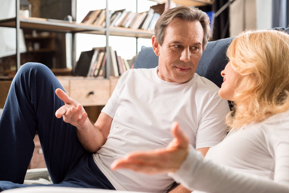 A photo of a couple talking   Photo: Shutterstock