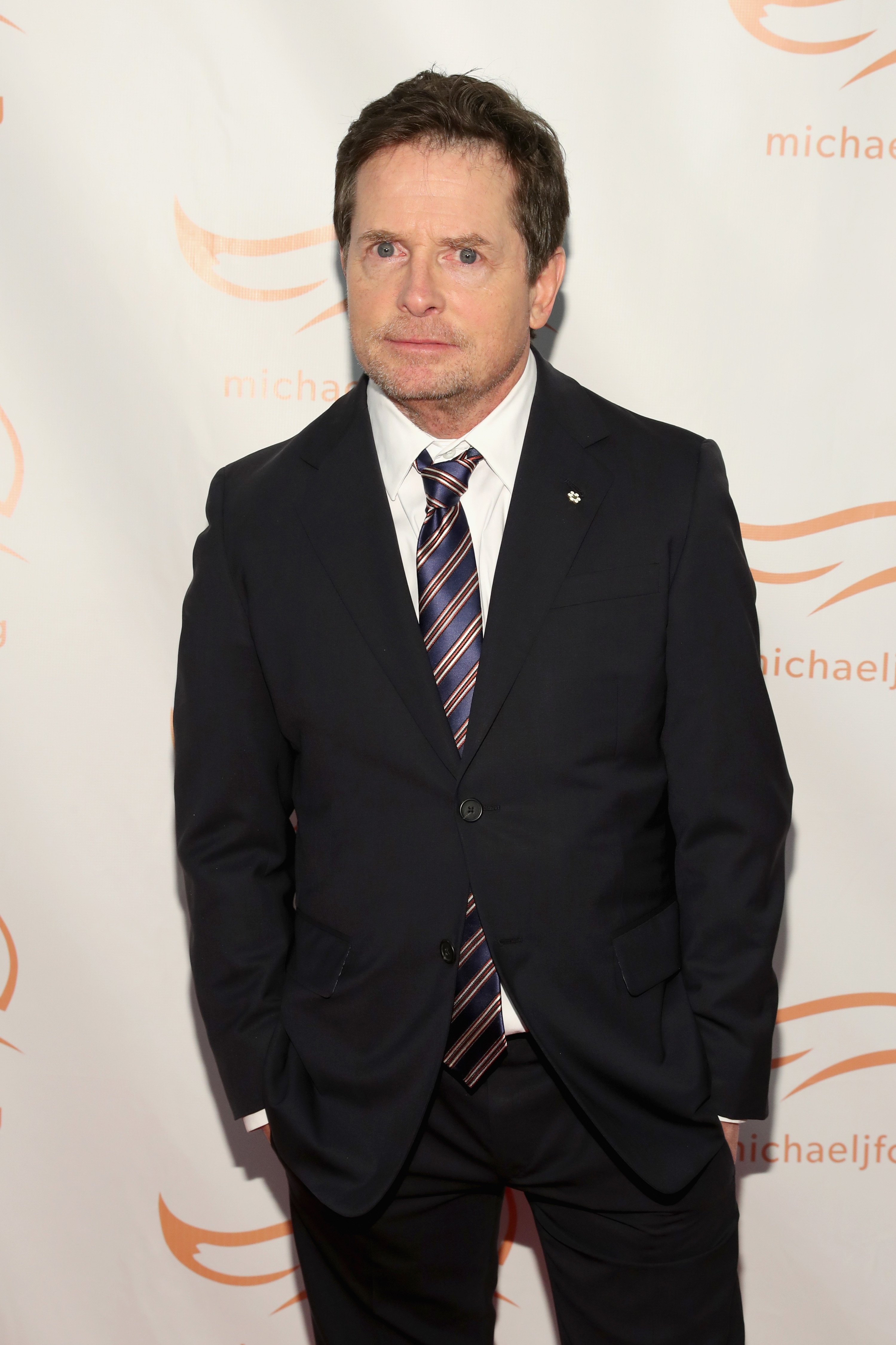 Michael J. Fox on the red carpet of A Funny Thing Happened On The Way To Cure Parkinson's benefitting The Michael J. Fox Foundation at the Hilton New York on November 10, 2018.   Source: Getty Images