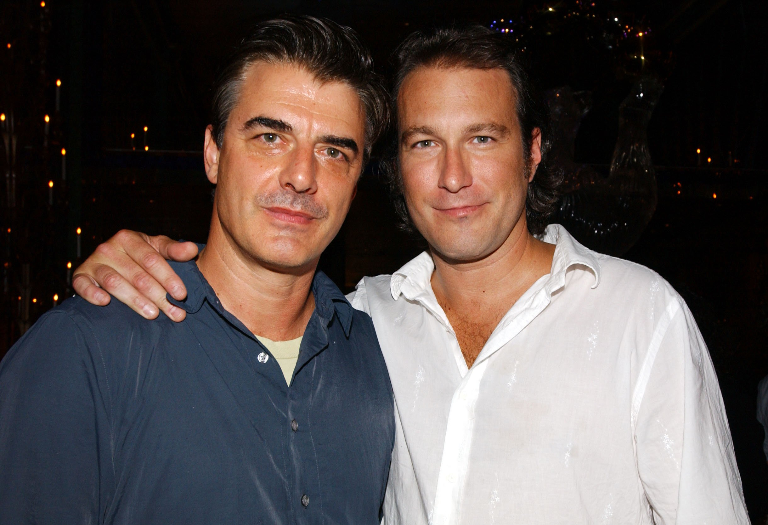 """Chris Noth and John Corbett at the """"K-19: The Widowmaker"""" NY Premiere Party at the Russian Tea Room in New York City, July 17, 2002 