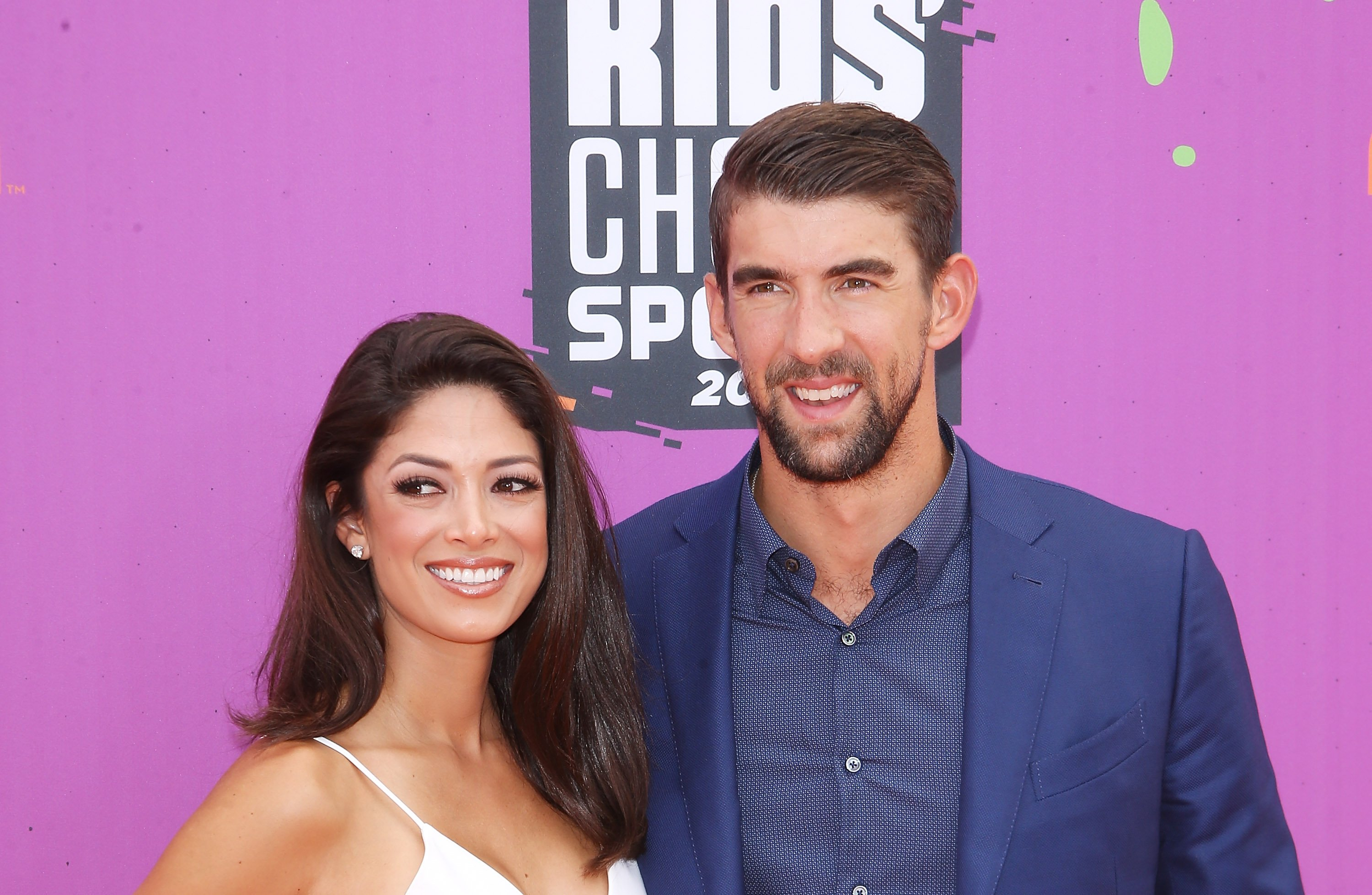 Michael and Nicole Phelps pictured attending the Kids Choice Sports Awards, 2017, California. | Photo: Getty Images