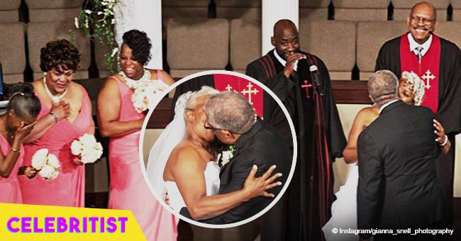 Sweet wedding photos of 70-year-old groom and 67-year-old bride still melt hearts