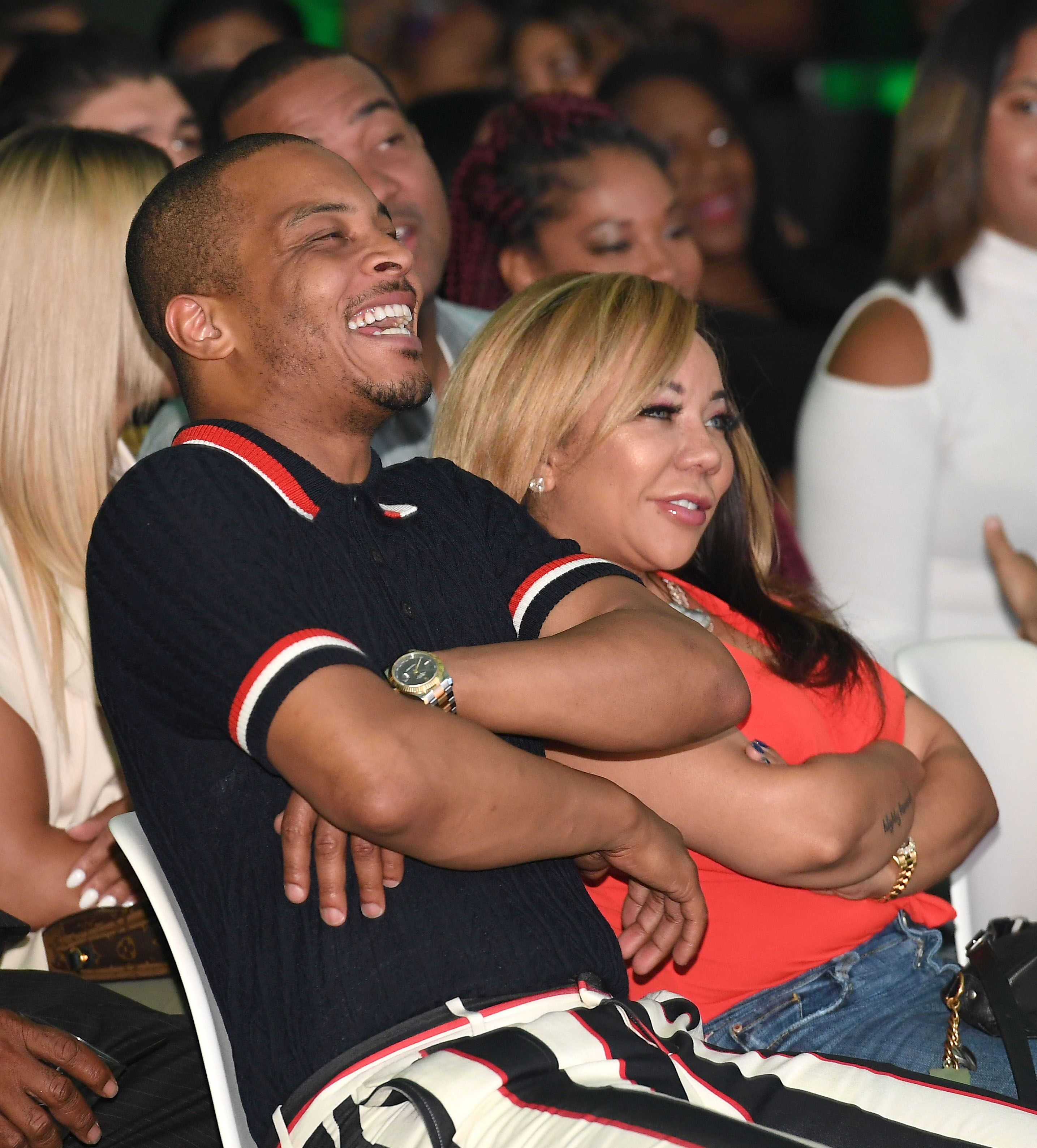 """Tip """"T.I."""" Harris and his wife Tameka """"Tiny"""" Harris/ Source: Getty Images"""