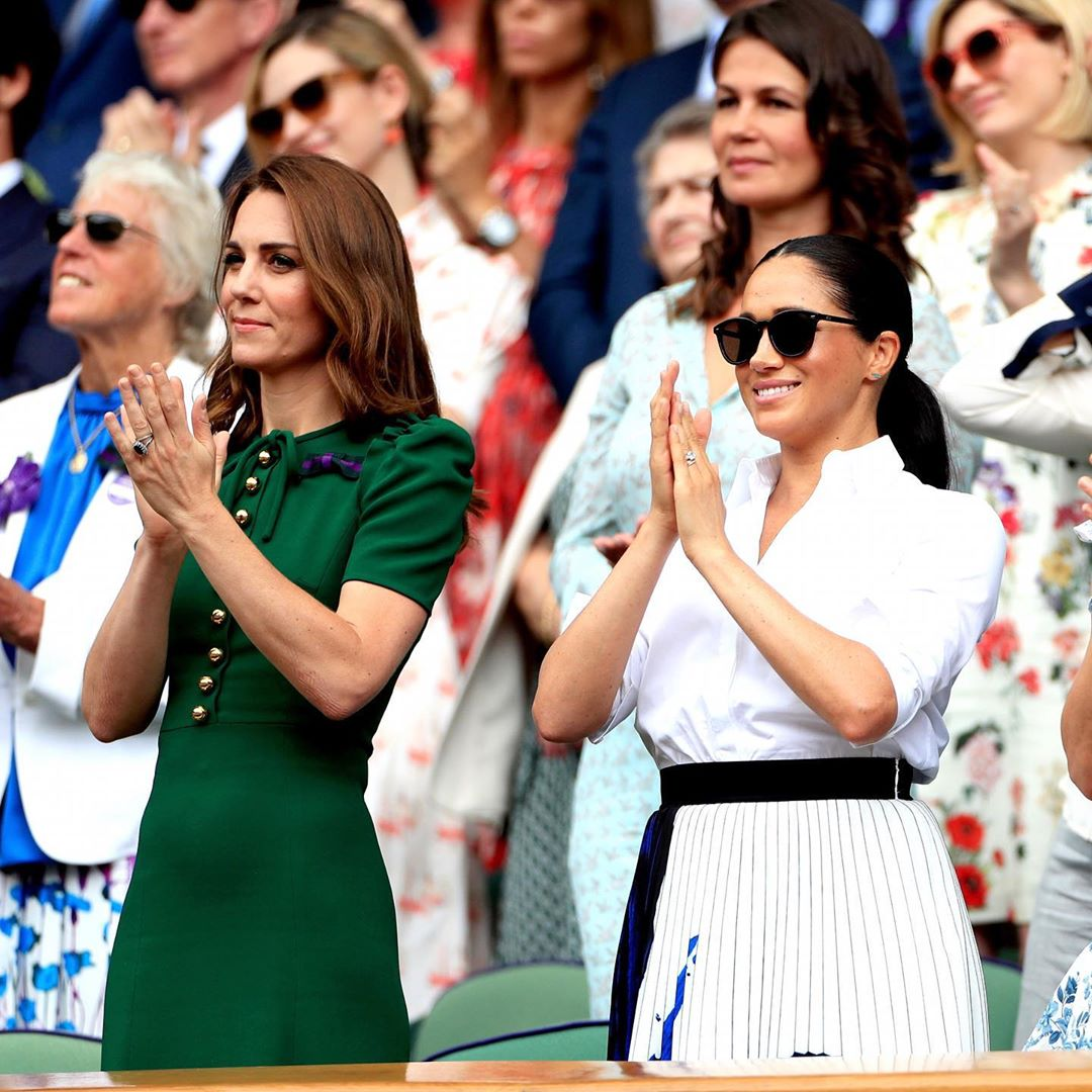 Meghan and Kate enjoyed each other's company at Wimbledon.   Source: Instagram/SussexRoyal