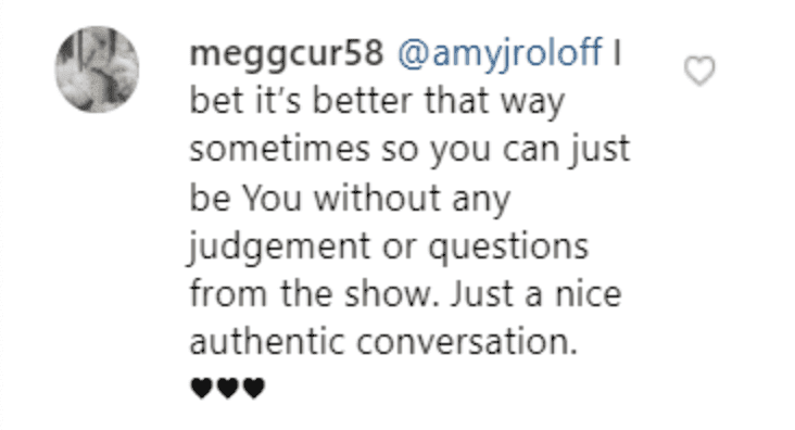 Fan's comment on Amy Roloff's post. | Source: Instagram/amyjroloff