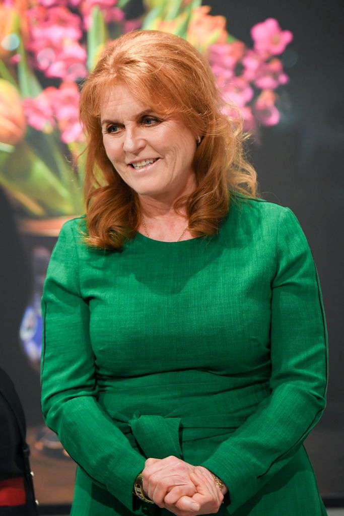 """Sarah Ferguson at the T.M. Glass Solo Exhibition """"The Audible Language Of Flowers"""" Opening on May 08, 2019 in Toronto, Canada.   Photo: Getty Images"""