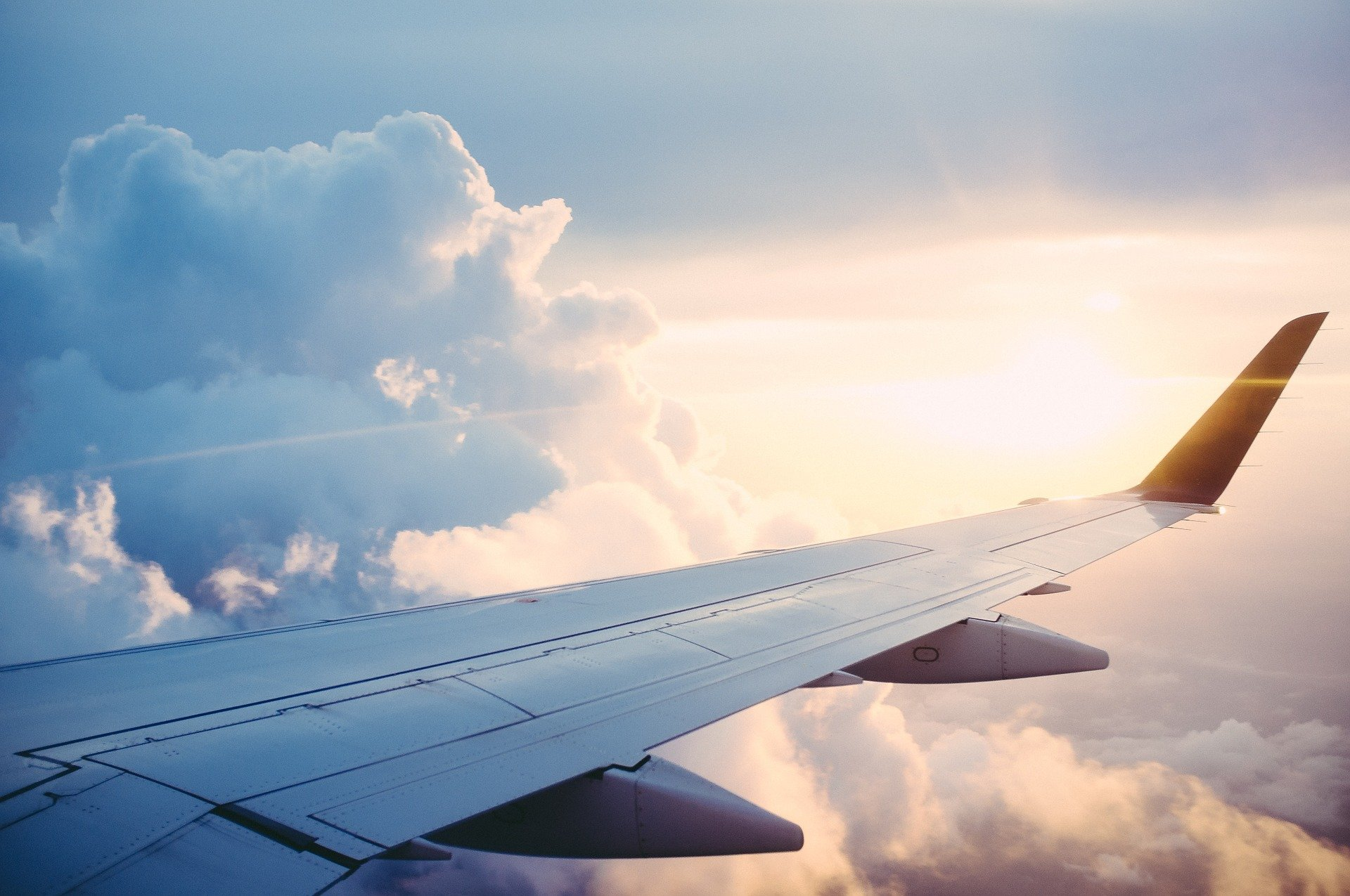 Ala de avion. Fuente: Pixabay