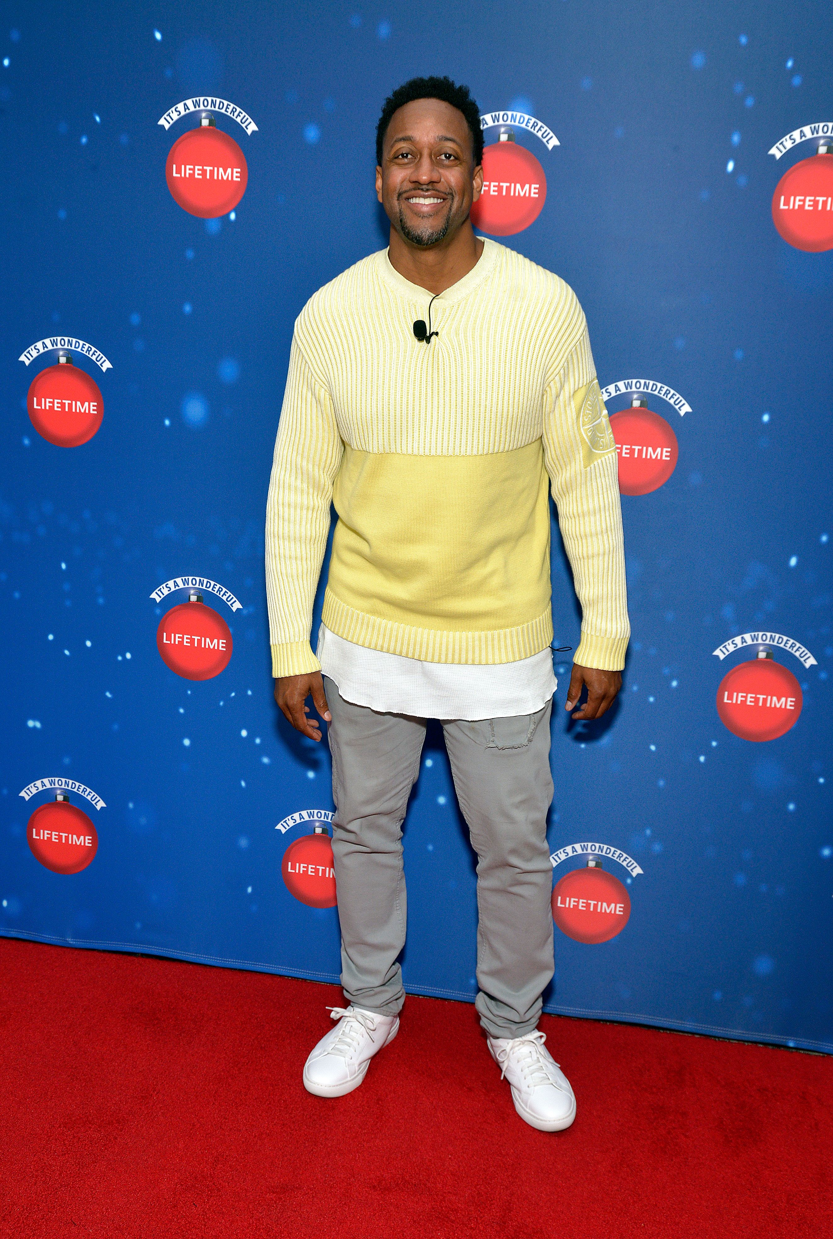 """Jaleel White during the Say """"Santa!"""" with It's A Wonderful Lifetime photo experience at Glendale Galleria on November 09, 2019 in Glendale, California. 