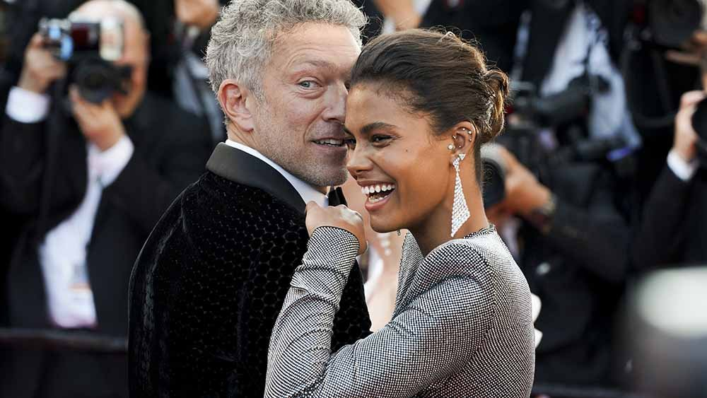 "Tina Kunakey and Vincent Cassel attend the screening of ""Girls Of The Sun (Les Filles Du Soleil)"" during the 71st Annual Cannes Film Festival at Palais des Festivals on May 12, 2018 in Cannes, France. 