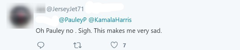 Screenshot of a fan's reply to Pauley Perrette's tweet. | https://twitter.com/PauleyP/