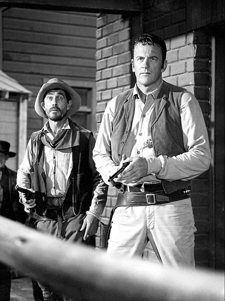 "Ken Curtis as Festus Hagen and James Arness as Matt Dillon from ""Gunsmoke,"" August 23, 1968. 
