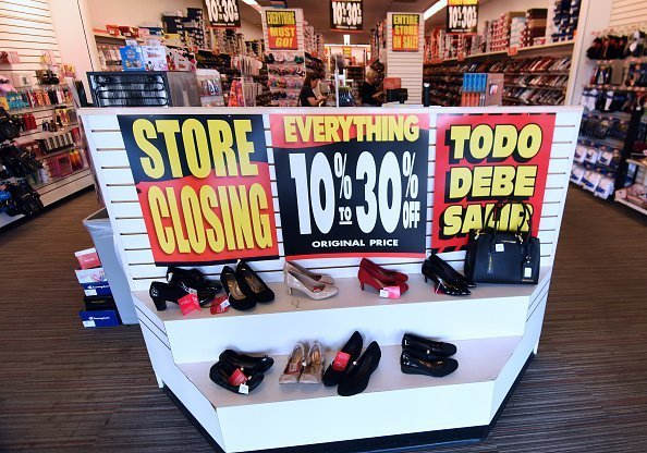 """Store Closing"" notice seen Inside a ""Payless"" store on February 17,2019, in Orlando, Florida. 