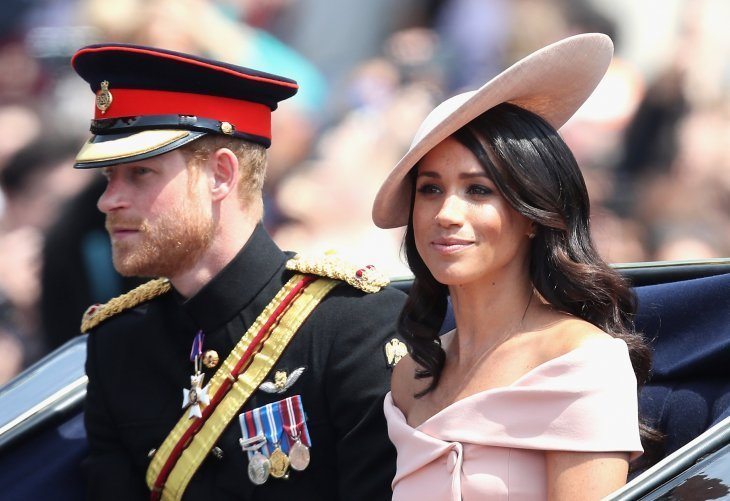 Meghan Markle and Prince Harry at Trooping the Colour in 2018 | Photo: Getty Images