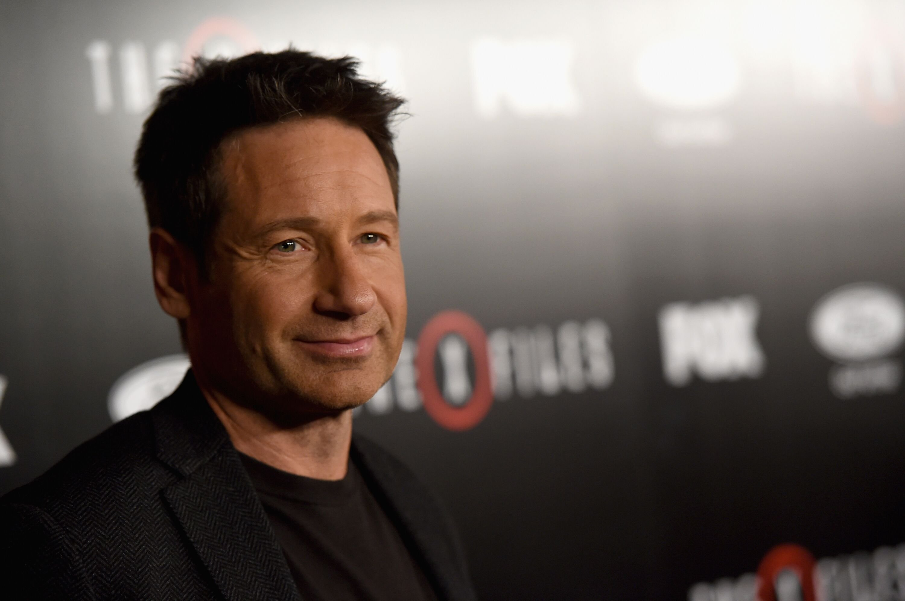 """David Duchovny attends the premiere of Fox's """"The X-Files."""" 
