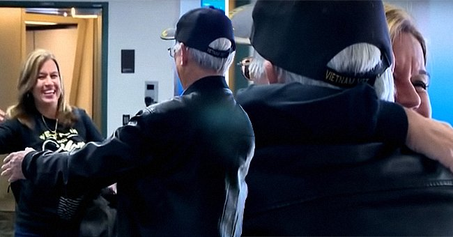 A woman and her father reunite in the airport after not knowing about each other for 50 years   Photo: Youtube/CBS Sacramento