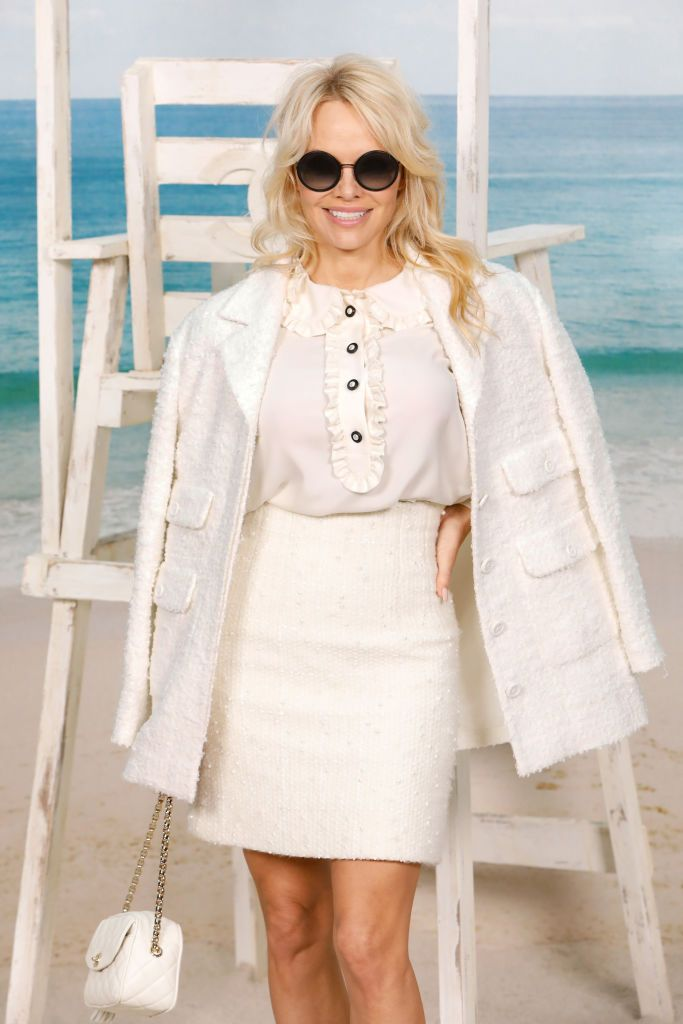 Pamela Anderson at the Chanel show at Le Grand Palais as part of Paris Fashion Week Womenswear on October 2, 2018. | Photo: Getty Images