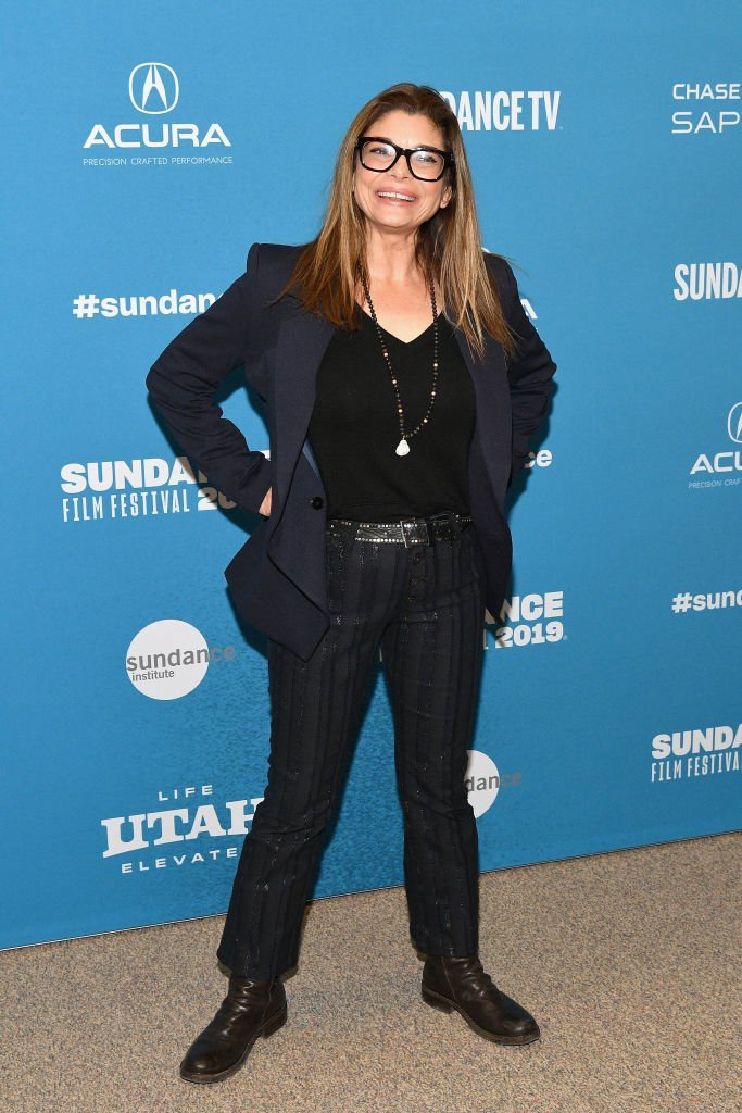"""Laura San Giacomo attends the """"Honey Boy"""" Premiere during the 2019 Sundance Film Festival. 