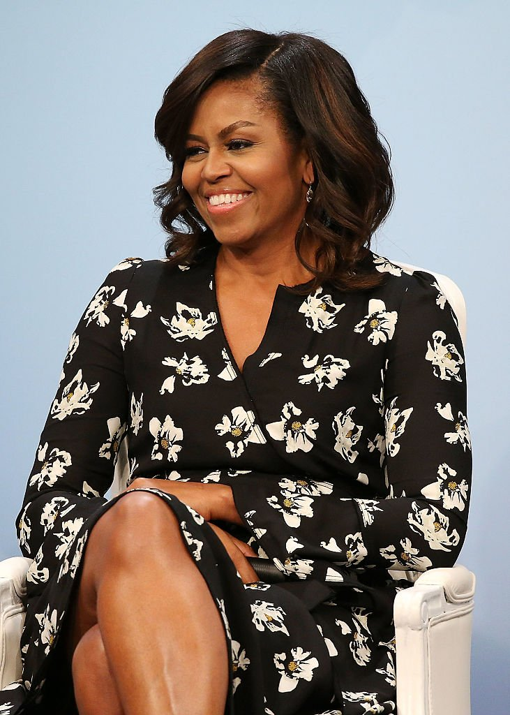 """Michelle Obama pictured during Glamour's """"A Brighter Future: A Global Conversation on Girls' Education"""" at The Newseum on October 11, 2016 in Washington, DC.   Source: Getty Images"""