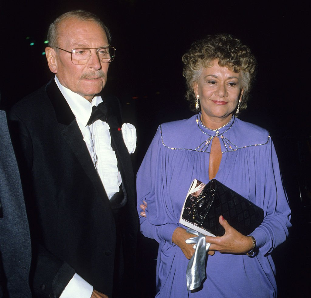 Laurence Olivier and wife Joan Plowright at the Martin Beck Theatre in London on August 26, 1978 | Photo: Getty Images