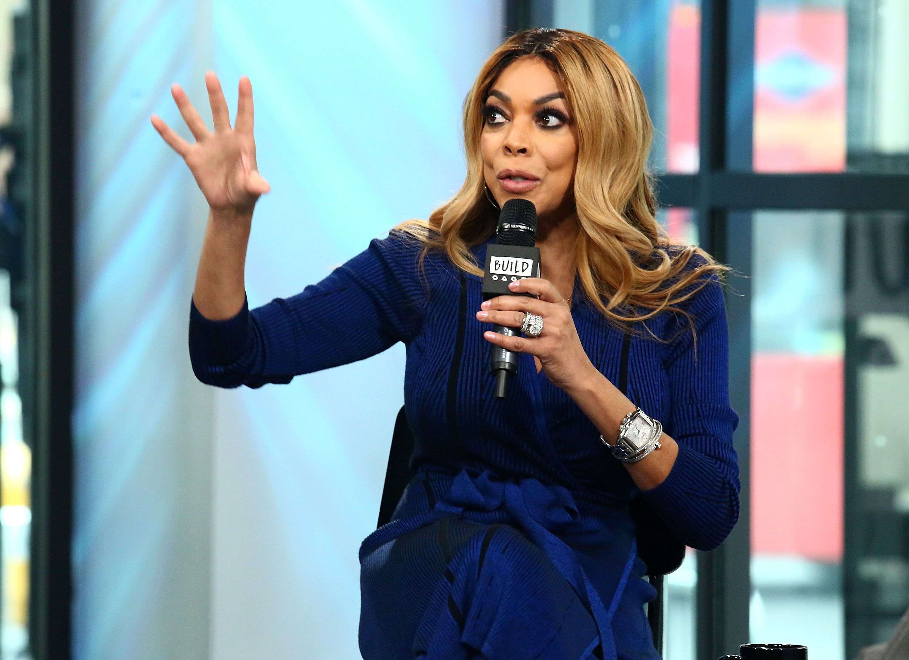 Wendy Williams discusses her daytime talk show at Build Studio on April 17, 2017 | Photo: Getty Images