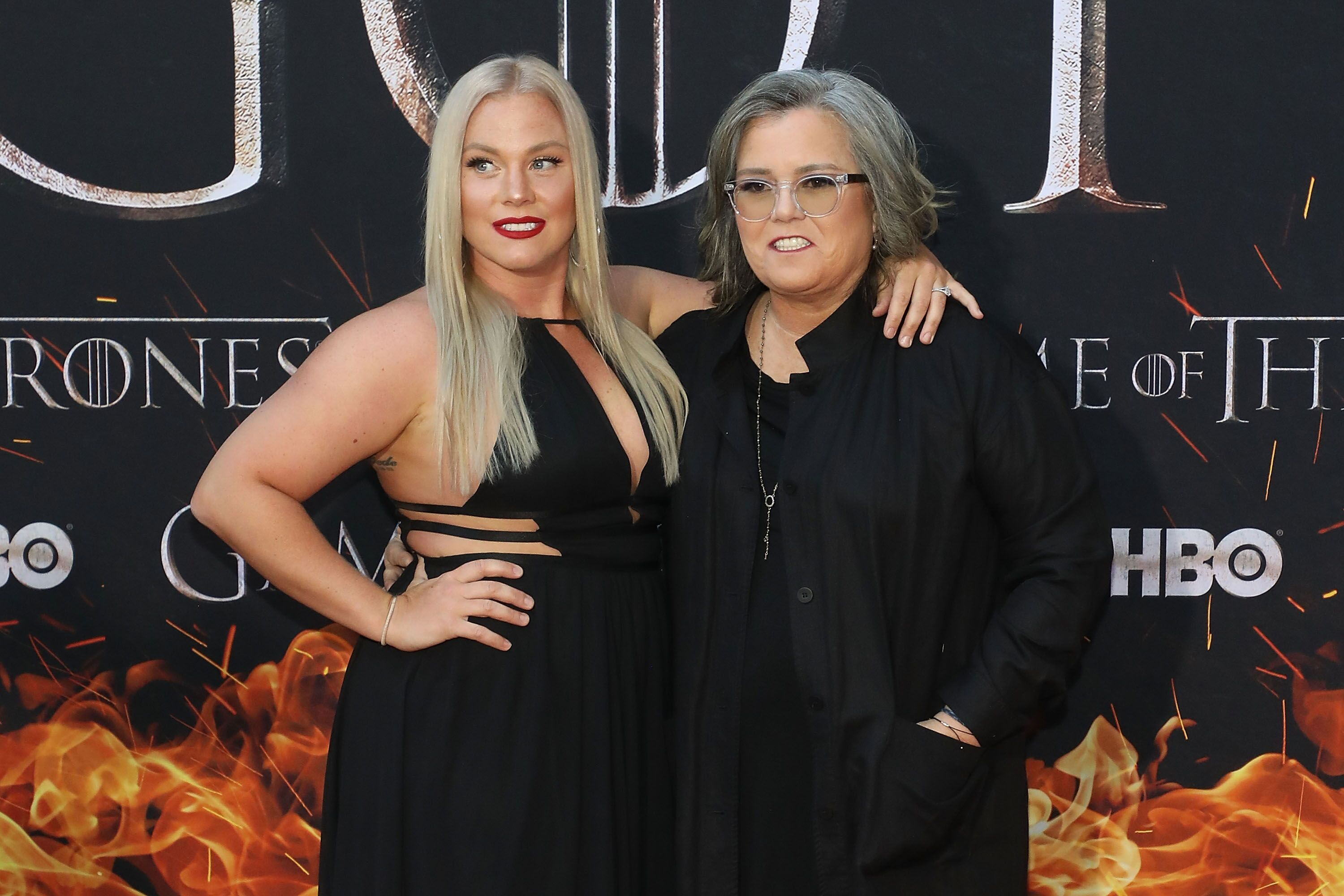 "Elizabeth Rooney and Rosie O'Donnell the Season 8 premiere of ""Game of Thrones."" 