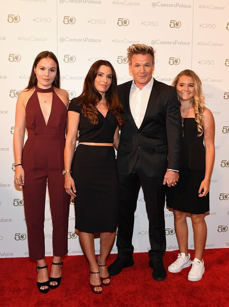Megan Jane Ramsay, Tana Ramsay, chef Gordon Ramsay and Matilda Elizabeth Ramsay arrive at Caesars Palace | Getty Images