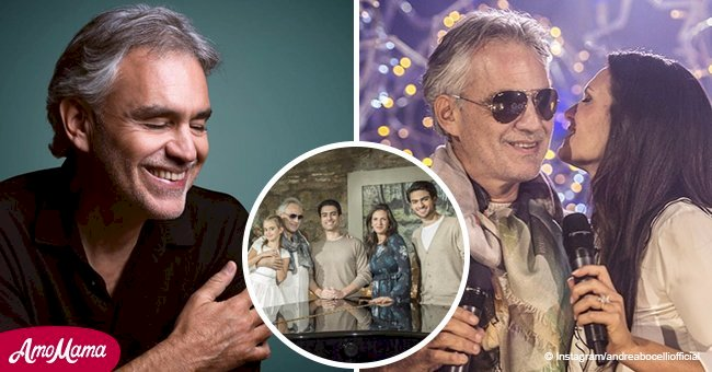 Andrea Bocelli shared a lovely photo of his family with a powerful message for all us