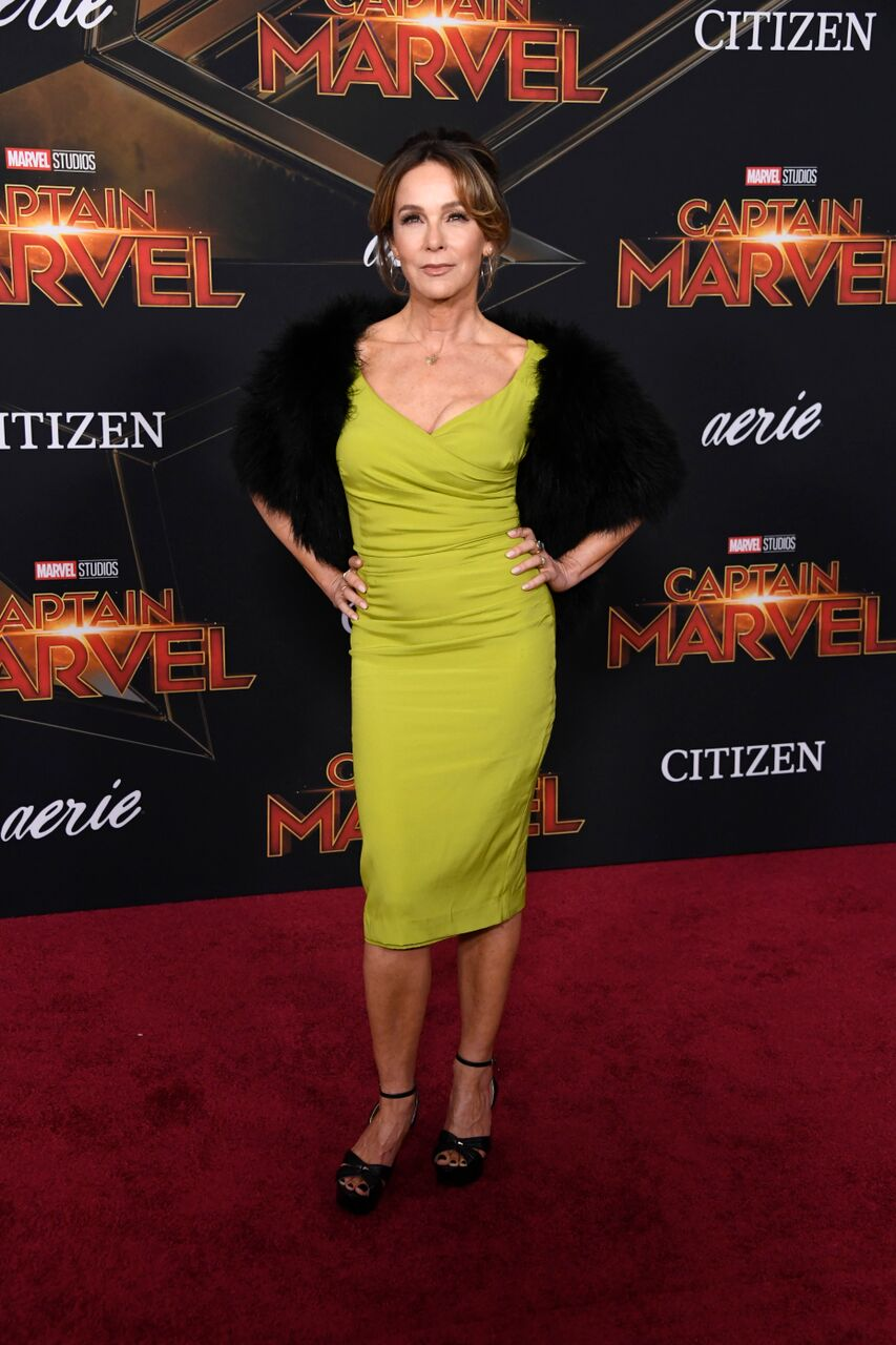 "Jennifer Grey attends Marvel Studios ""Captain Marvel"" Premiere. 