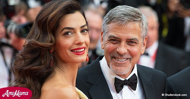 "Hilarious TV moment of George Clooney's 'twins' with their famous ""manny"""