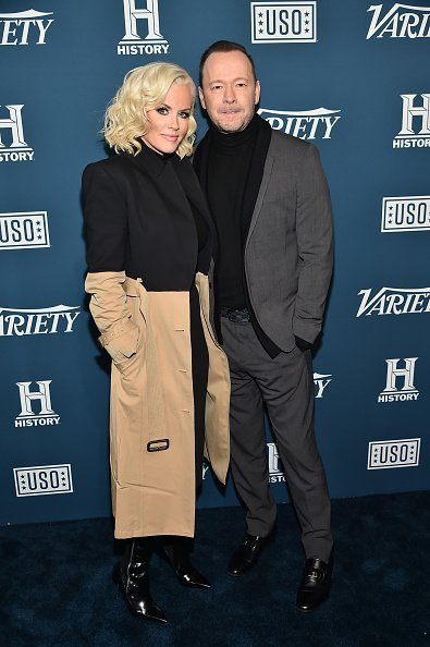 Jenny McCarthy and Donnie Wahlberg at Variety's 3rd Annual Salute To Service on November 06, 2019 | Photo: Getty Images