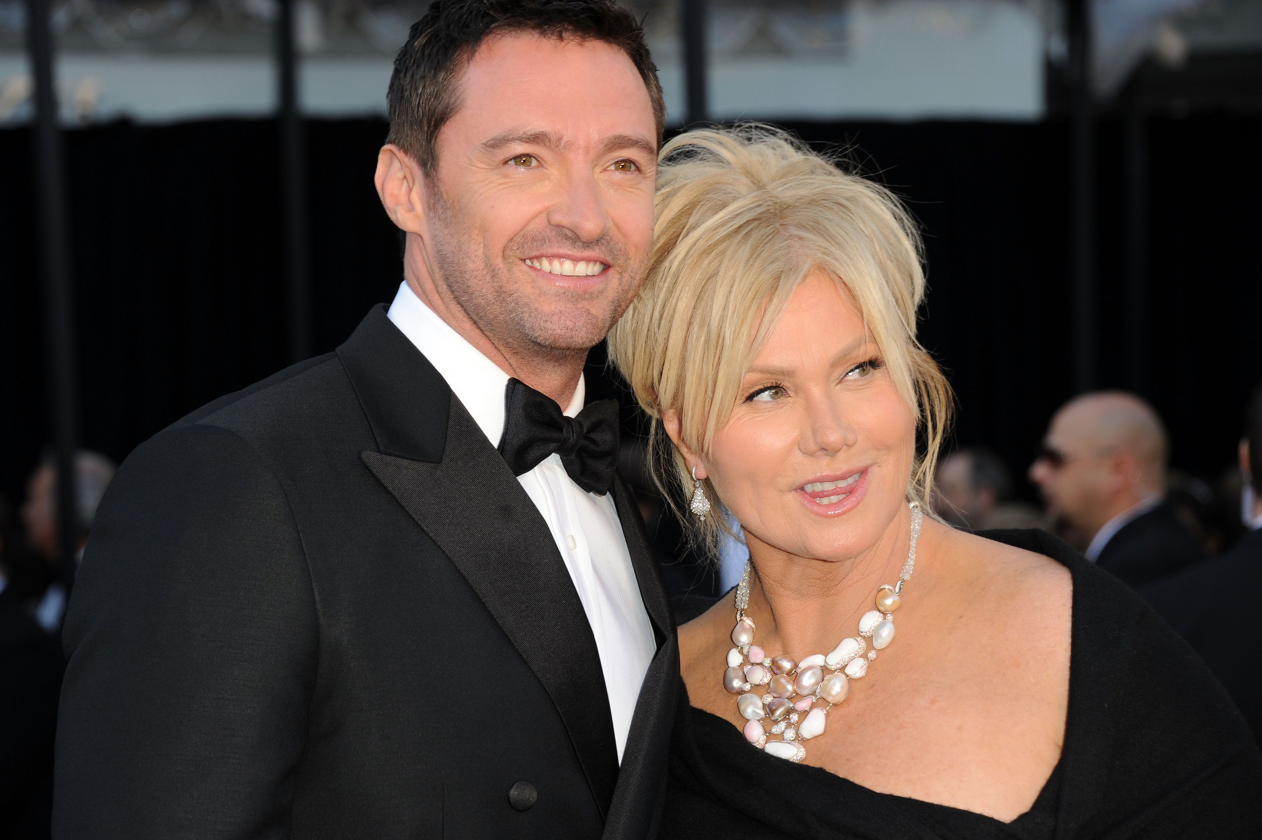 Hugh Jackman and wife Deborra-Lee Furnes arrive at the 83rd Annual Academy Awards held at the Kodak Theatre. | Source: Getty Images