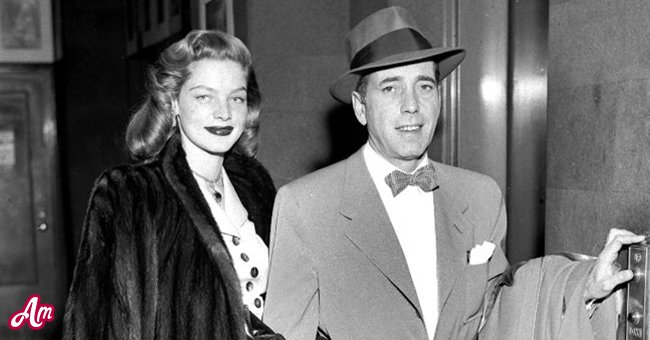 April 1951: American actress Lauren Bacall, formerly Betty Joan Perske arriving in London with her first husband Humphrey Bogart (1899-1957). | Source: Getty Images