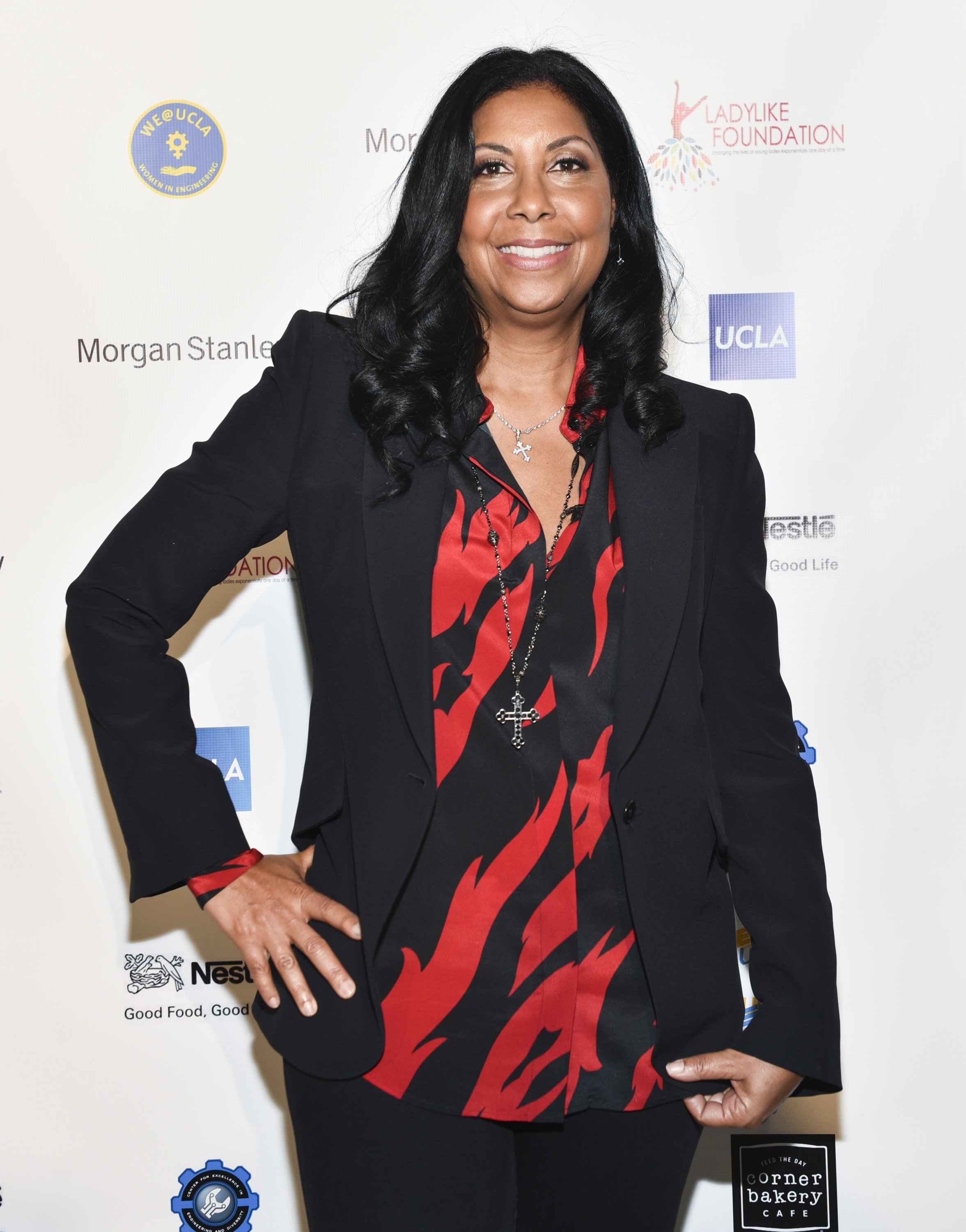 Cookie Johnson at the 6th Annual Ladylike Day at UCLA Panel and Program on Dec. 16, 2017 in California   Photo: Getty Images